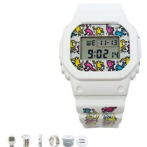 KEITH HARING G SHOCK WATCH WHITE - LIMITED EDITION